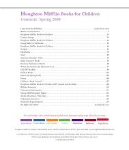 Houghton Mifflin Books for Children - Houghton Mifflin Harcourt