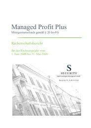 Managed Profit Plus - Security KAG