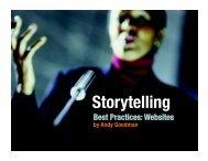 Storytelling Best Practices: Websites - Goodman