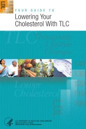 Your Guide to Lowering Your Cholesterol With TLC - National Heart ...