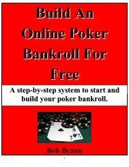 Build An Online Poker Bankroll For Free - Legends of America