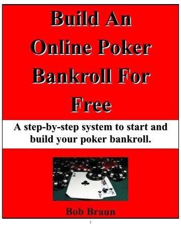 Build An Online Poker Bankroll For Free - Legends of America