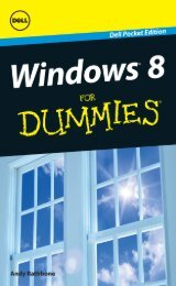 Windows 8 For Dummies, Dell Pocket Edition