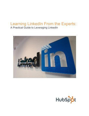 Learning LinkedIn From the Experts: - Florida Website Marketing .com