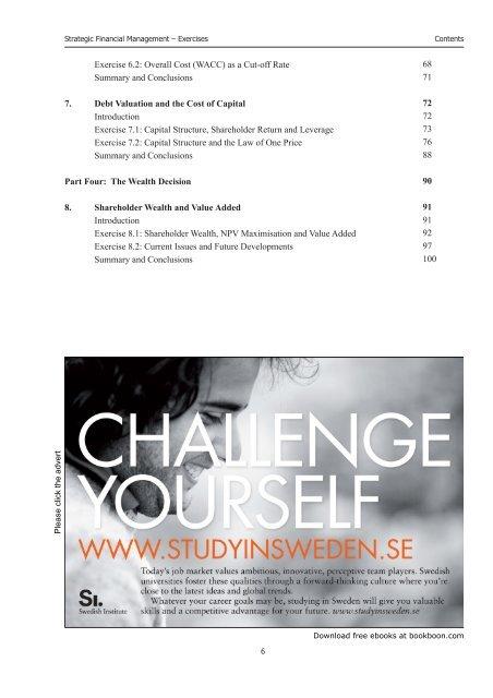 Strategic Financial Management: Exercises - Somerset Learning ...