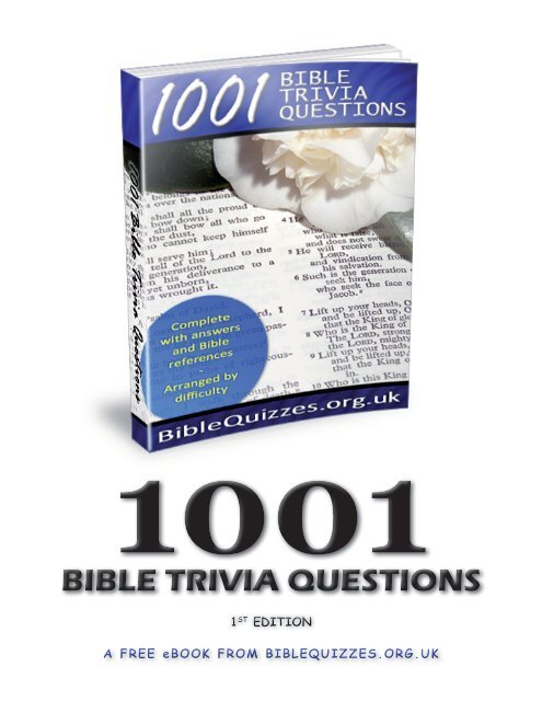 image regarding Printable Kjv Bible Trivia Questions and Answers named 1001 Bible Trivia Inquiries (PDF)