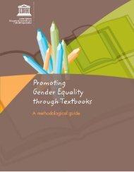 Promoting gender equality through textbooks: a methodological guide
