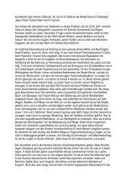 Reisebericht A. Blauhut Februar 2008 - bei Model-Schools-India