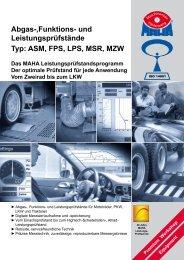und Funktionsprüfstände - für PKW, LKW, Traktor ... - Maha Nederland