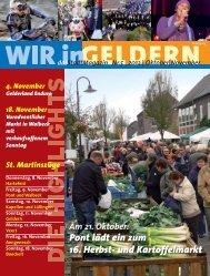 Pont lädt ein zum 16. Herbst- und Kartoffelmarkt - WIR in Geldern