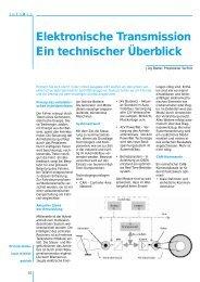 Elektronische Transmission Ein technischer ... - Blatter Electronic