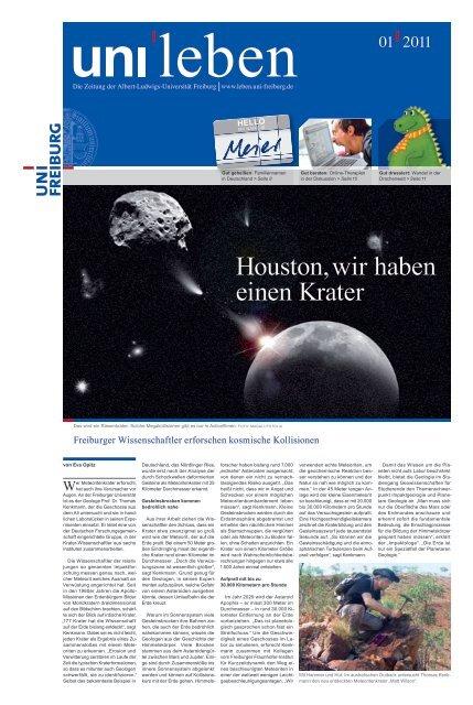 Magazin 01 2011 Uni Leben Albert Ludwigs Universität