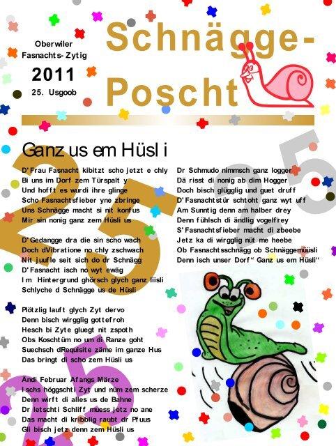Schnägge-Poscht - Fasnachts-Comité Oberwil