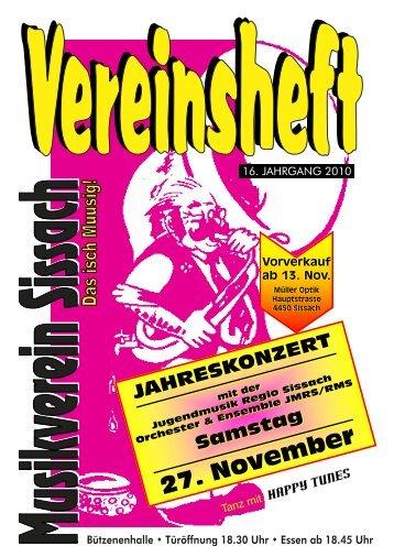 16. jahrgang 2010 - Musikverein Sissach
