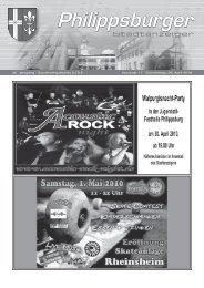 Stadtanzeiger Philippsburg KW17 - Nussbaum Medien