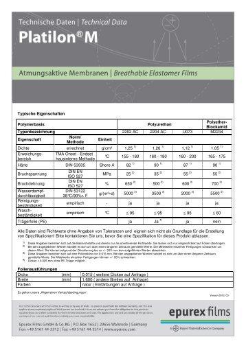 Atmungsaktive Membranfolien - Epurex Films GmbH