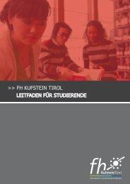Leitfaden für Studierende - Fachhochschule Kufstein Tirol