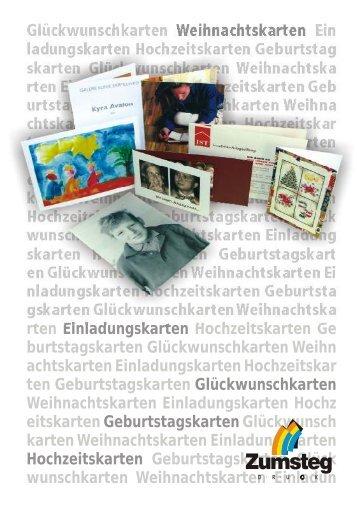 Individuelle Weihnachtskarten - Zumsteg Druck AG