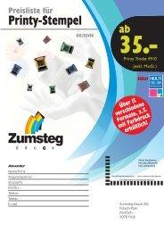 Printy-Stempel - Zumsteg Druck AG