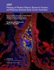 Program and Abstracts May 17–20, 2009 - Howard Hughes Medical ...