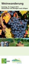 Weinwanderung Jurapark Aargau»Link wird in einem ... - Postauto