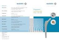 Programm - Mathys AG Bettlach