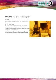 EVG 640 Top Side Mask Aligner - EES Equipment Exchange ...