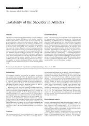 Instability of the Shoulder in Athletes - SGSM