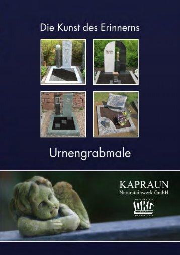 "Katalog ""Urnengrabmale"" - Natursteinwerk Kapraun"
