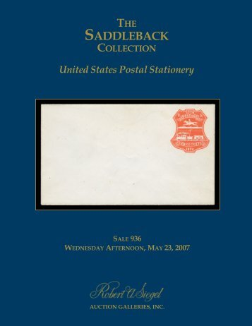 View the catalogue as a pdf file - Siegel Auction Galleries