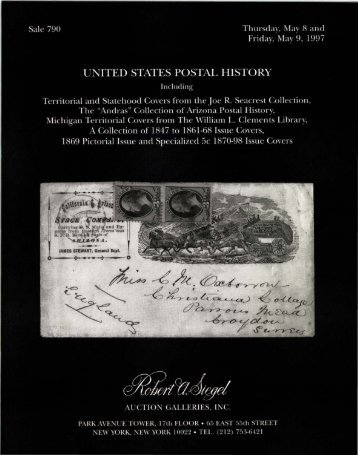 790-US Postal History - Robert A. Siegel Auction Galleries, Inc.