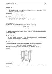 5. Freier Fall Versuch: Ein Blatt Papier (140 g/m2) und eine Münze ...