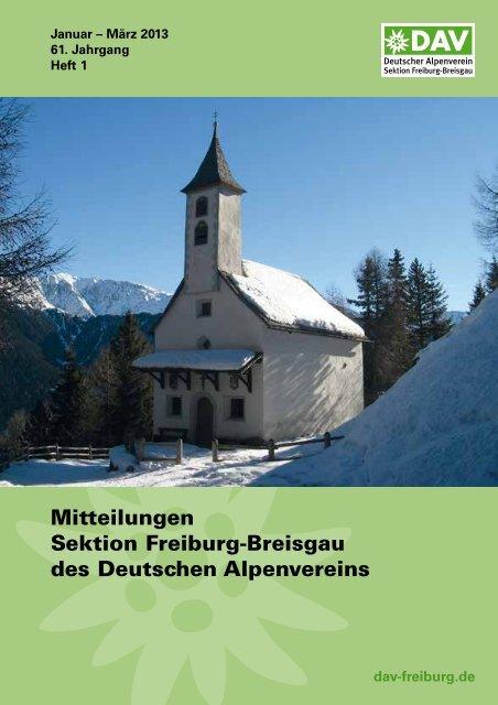 1.Quartal 2013 - Deutscher Alpenverein Sektion Freiburg-Breisgau