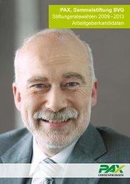 PAX, Sammelstiftung BVG Stiftungsratswahlen 2009–2013 ...
