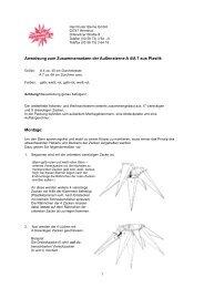 Anweisung zum Zusammensetzen der Außensterne A 4/A 7 aus ...