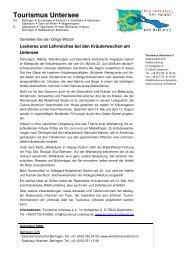 Pressemitteilung Kräuter 08 - Tourismus Untersee e.V.