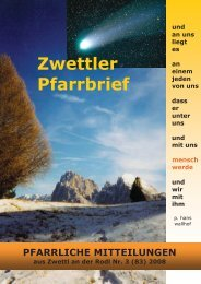 Pfarrbrief Nr. 3 /2008 - Pfarre Zwettl an der Rodl