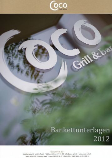 Coco Bankettunterlagen 2012 herunterladen - Coco Grill & Bar