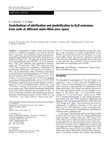 Contributions of nitrification and denitrification to ... - Malavolta.com.br