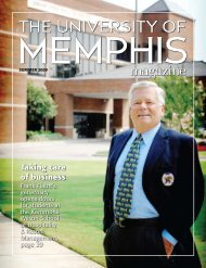 Taking care of business - University of Memphis