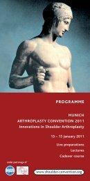 Convention programme - 2nd MUNICH ARTHROPLASTY ...
