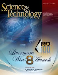 Download the PDF - Science & Technology Review - Lawrence ...