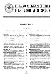 bizkaiko aldizkari ofiziala boletin oficial de bizkaia - Bizkaiko Foru ...