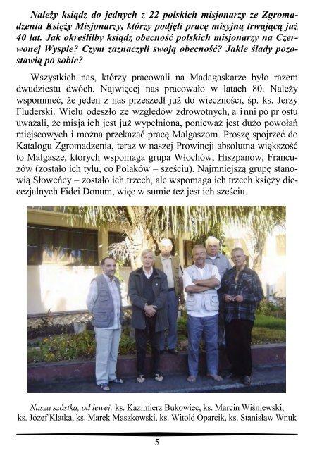 wiadomości misyjne nr 18 (4/2010) pdf - Zgromadzenie Księży ...