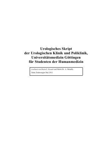 Urologisches Skript der Urologischen Klinik und Poliklinik ...