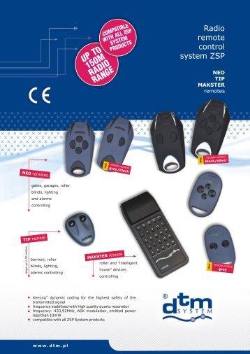 Radio remote control system ZSP - DTM System