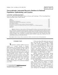Non-syndromic Autosomal Recessive Deafness in Pakistani ...