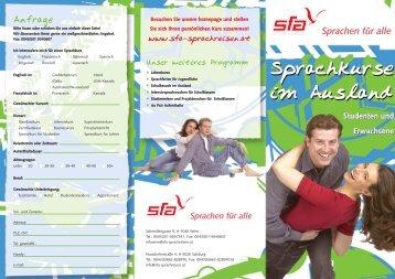 Studenten und Erwachsene Studenten und ... - SFA Sprachreisen