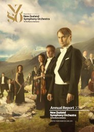 Annual Report 2011 - New Zealand Symphony Orchestra