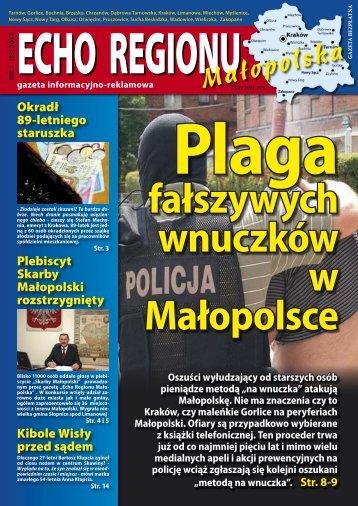 """""""Skarby Małopolski""""! - Echo Regionu Małopolska"""